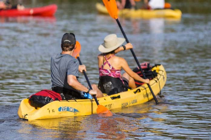 Kayaking on Kauai's Wailua River