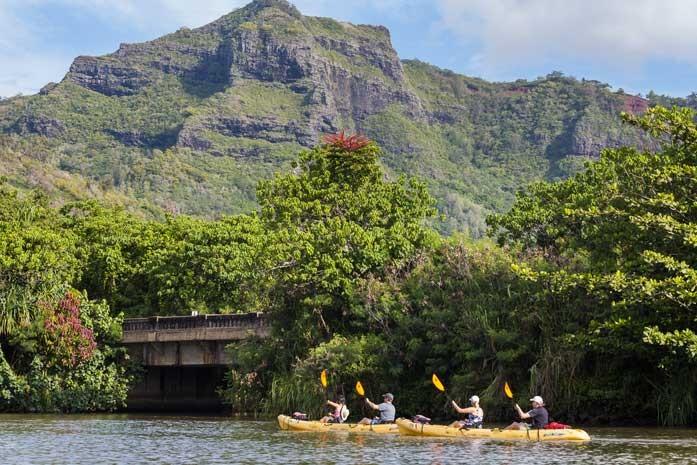 Wailua River Kayaking Tour