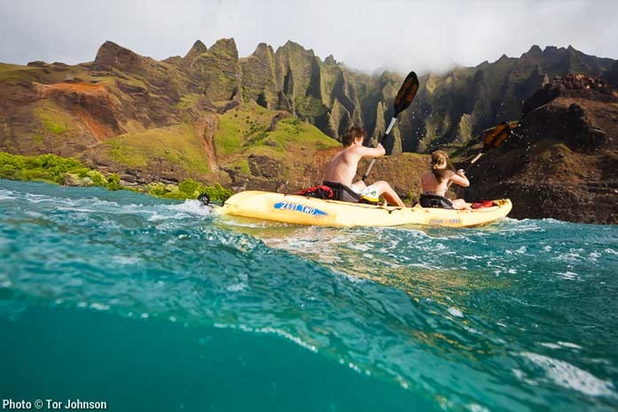 Sea Kayaking Kauai's Napali Coast